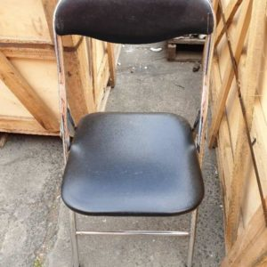 EX HIRE BLACK & CHROME FOLDING CHAIRS SOLD AS IS